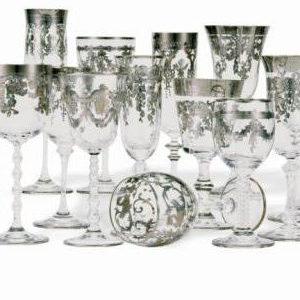 Bicchieri Decori oro e platino