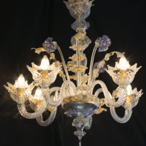 Lampadario in vetro di Murano DOGI IC14