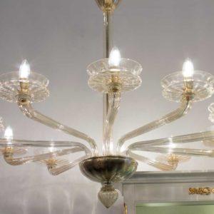 Lampadario in vetro di Murano DOGI IC19