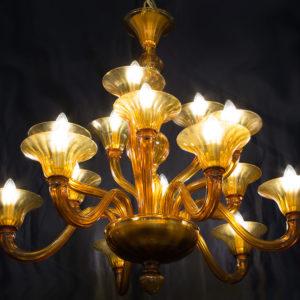 Lampadario in vetro di Murano DOGI IC22