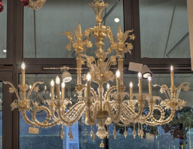 Rezzonico a barchetta cristallo oro 10+2 luci